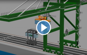 LASE Shows Off Straddle Carrier Positioning Crane Tech