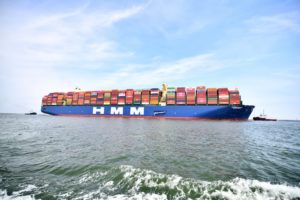 HMM Algeciras makes its first call at the Port of Rotterdam