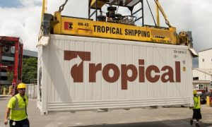 Second Tropical Shipping location signs with Navis Octopi