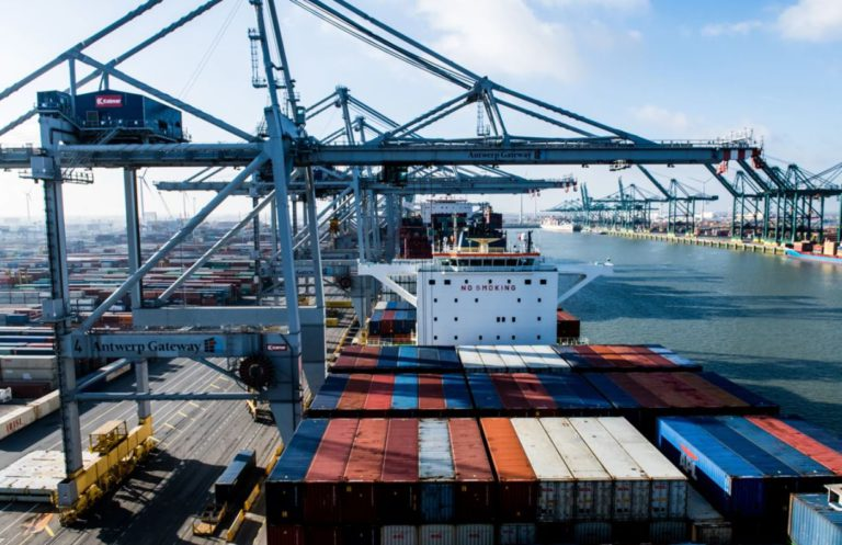 The Port of Antwerp handled one million TEU in September
