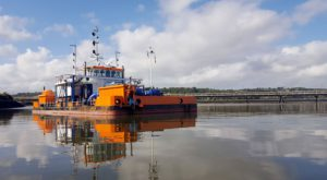 Port of Rotterdam Authority performing trial with water injection dredging