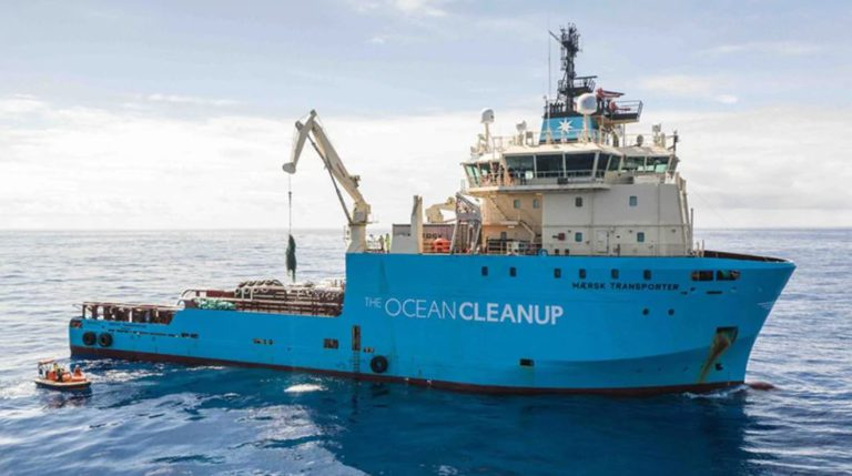 Maersk and The Ocean Cleanup sign new three-year partnership