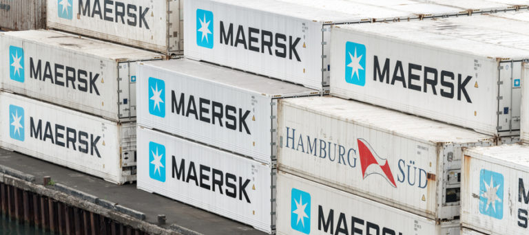 Maersk loses several hundred containers between China and US