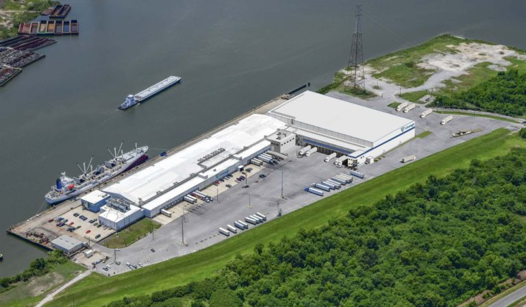 Port of New Orleans and Lineage Logistics new cold storage facility