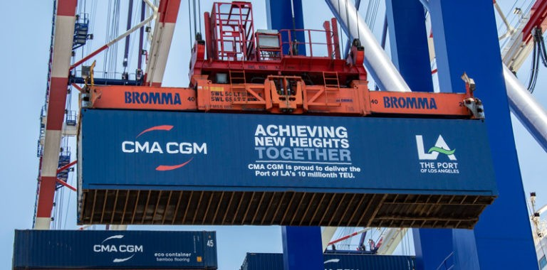 Port of Los Angeles handles 10 millionth TEU in fiscal year