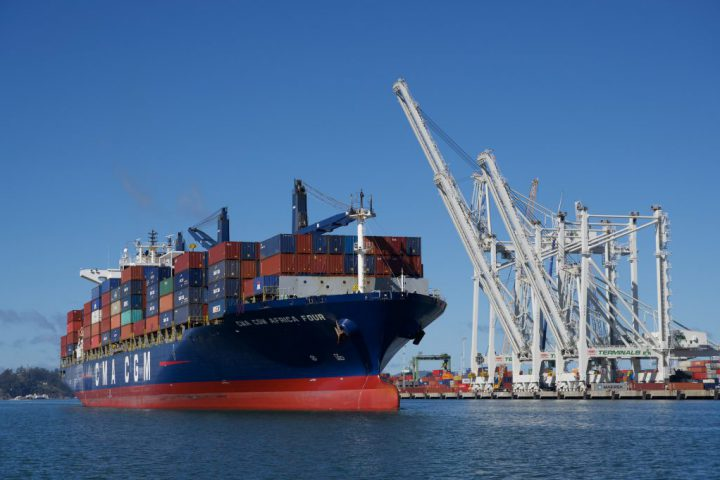 CMA CGM Africa FOUR docks in at Port of Oakland