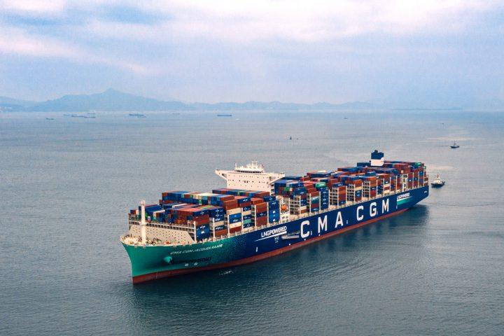 CMA CGM Jacques Saade on open water