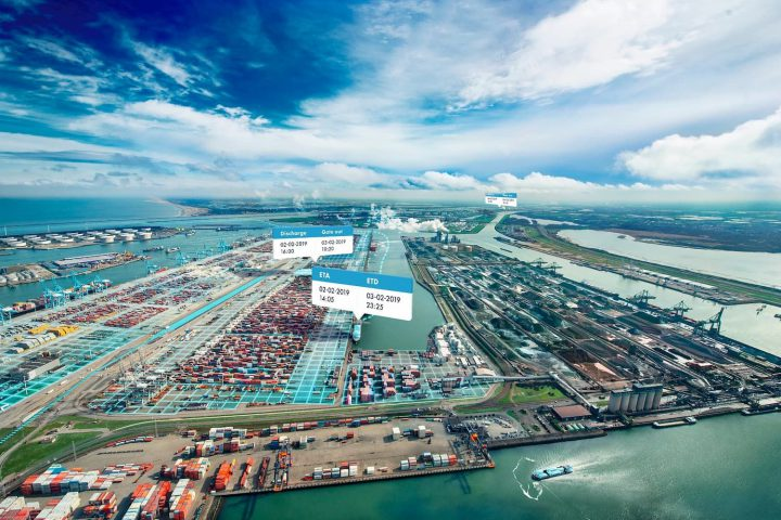 Aerial view of the Port of Rotterdam