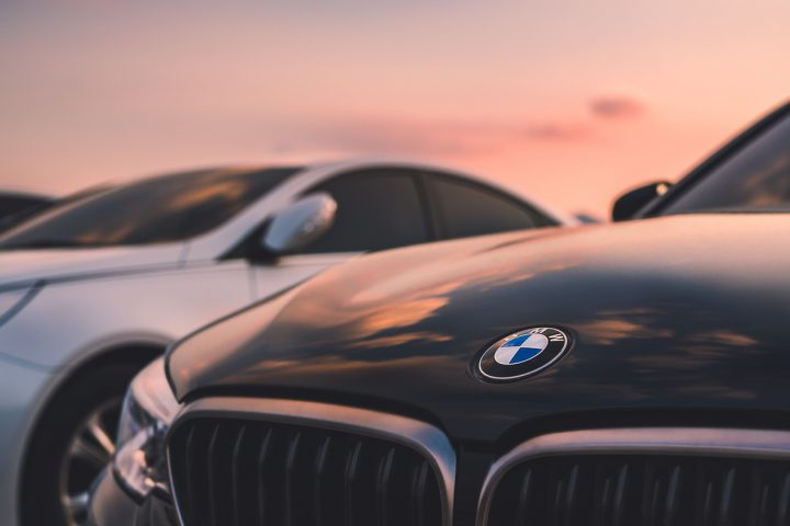 august 20 in 2018, seoul in south republic korea. bmw car on sunset sky. bmw is germany vehicle company in global.