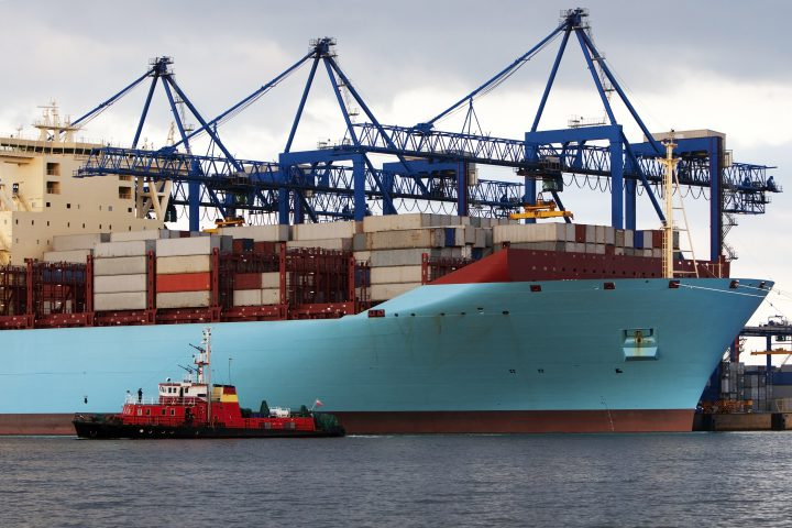 The largest container ship