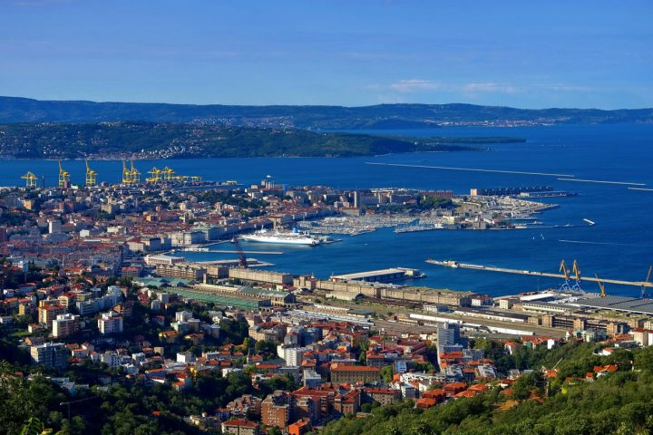 Trieste in Italy, aerial view