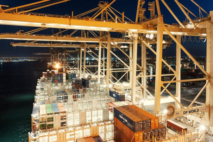 Containers at DP World terminal