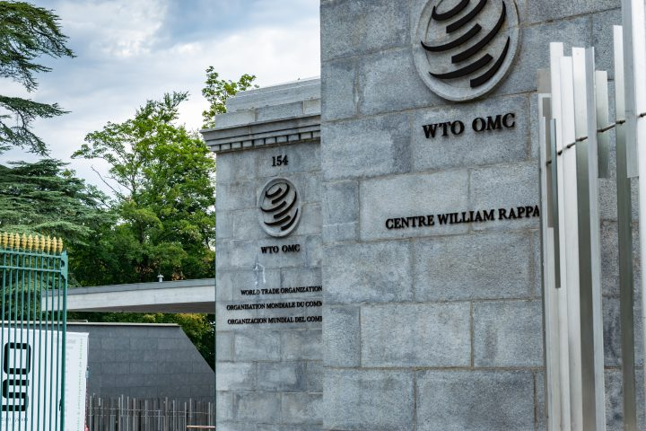 Geneva,SWITZERLAND-August 06,2019: Headquarters of the World Trade Organization.WTO is an intergovernmental organization that is concerned with the regulation of international trade between nations.